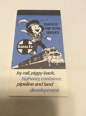 Vintage Santa Fe Railway Railroad Indian Train Notebook Memo Pad New