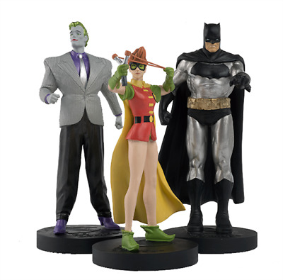 Batman Robin Et Joker Figurines Masterpiece Eaglemoss Dark Knight Returns Box