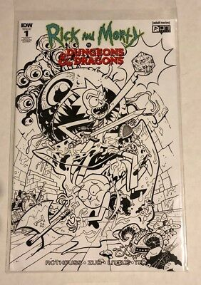 Rick and Morty vs Dungeons & Dragons #1 NYCC 2018 Retailer Variant Sketch Cover