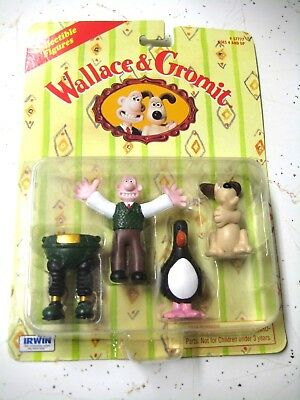 1989 Irwin Toys Wallace & Gromit Wrong Trousers Penguin Sealed New Figurines