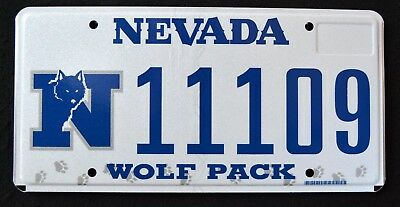 "NEVADA "" GO PACK WOLF - NFL"" DISCONTINUED  NV University Specialty License Plate"