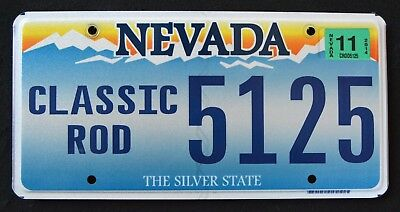 "NEVADA "" CLASSIC ROD - CUSTOM CAR - SILVER STATE "" NV Specialty License Plate"
