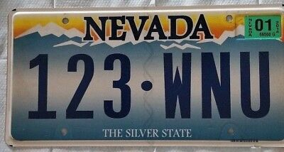 Nevada Blue Mountains License Plate