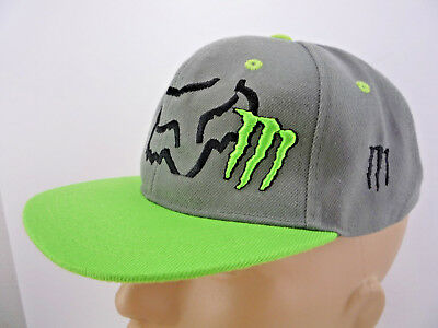 FOX RACING MONSTER Energy Zebra Mens Flexfit Hat SX MX -  32.00 ... af9e845ae823