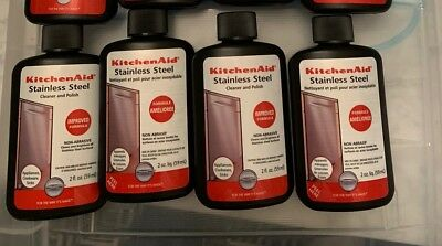 New Kitchenaid Stainless Steel Cleaner Polish Non Abrasive 2 Oz Bottle Pack