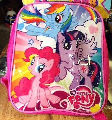 """NEW My Little Pony Small 12"""" Backpack Pink Twilight Sparkle Rainbow Dash Pinkie"""