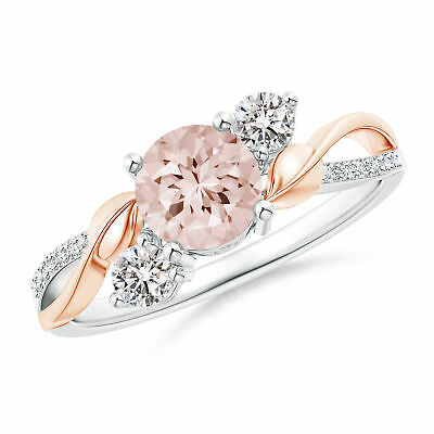 Fashion Two Tone 925 Silver Women's Wedding Rings Champagne Crystal Size 6-10