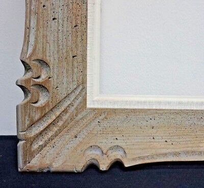 "Large Vintage French Mid Century Carved Wood Picture Frame fits 24"" x 26"