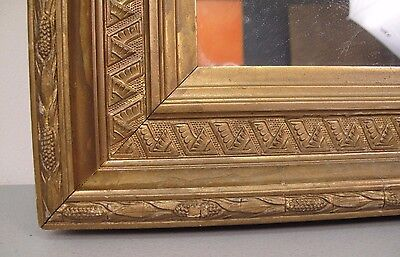 "Victorian Aesthetic Movement Americana Corn Cob Gilt Gold Frame, fits 13"" x 17"""