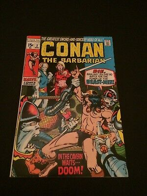 Conan the Barbarian #2 (Dec 1970, Marvel) NM- beautiful shape early Bronze Age