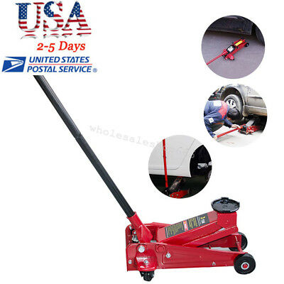 Pro 3 Ton Heavy Duty Steel Low Profile Floor Jack Rapid Pump Show Car Lowrider