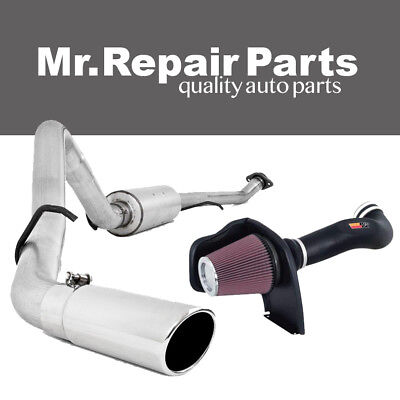 MBRP Exhaust System + K&N Cold Air Intake Kit for 05-07 Sierra 1500 4.8L 5.3L