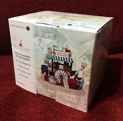 Department 56 Seasons Bay #53604 FRESH SEAFOOD BY THE SHORE Brand New in Box NIB