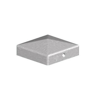 """Galvanised Metal Fencing Decking Post Cap Topper Pyramid  3"""" x 3"""" 75mm  NEW!"""