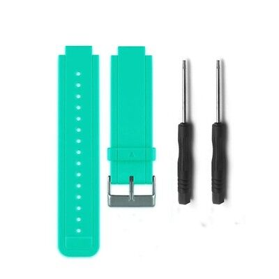 (Teal) - HWHMH Replacement Silicone Bands With Pin Removal Tools for Garmin