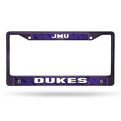 (James Madison Dukes) - NCAA Coloured Chrome Plate Frame. Rico. Delivery is Free