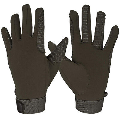 (Small, Brown) - FitsT4 Horse Riding Gloves Equestrian Outdoor Breathable
