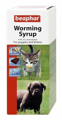 Worming Syrup for Puppies and Kittens Chocolate Flavoured 45ml pump dispenser