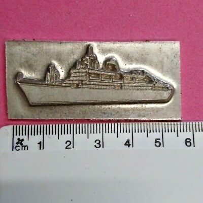 Hot Foil Printing Plate Adana Letterpress Cruise Ship Boat Holiday #458