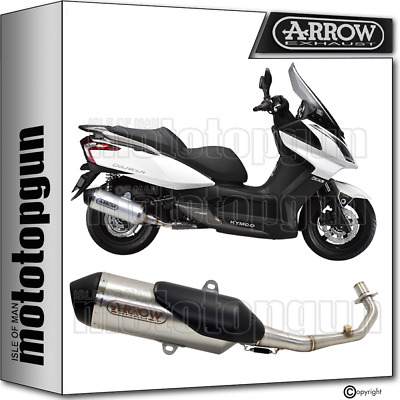 Arrow Full System Exhaust Homologated Urban Steel Kymco Downtown 125 2013 13
