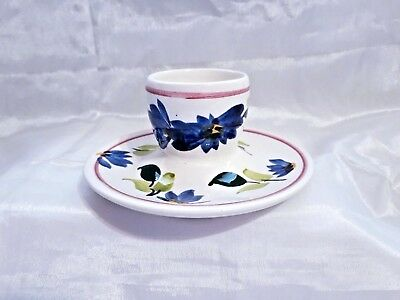 Vintage 1960's/1970's Toni Raymond Hand Painted Egg Cup With Blue Flower Design