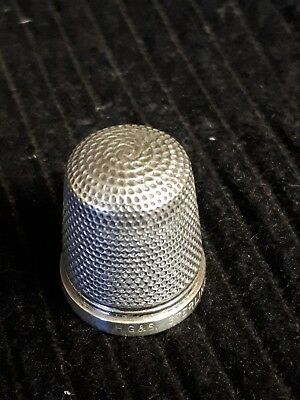 Vintage Sterling Silver H.G & S Thimble 'The Spa' Henry Griffith & Sons 18