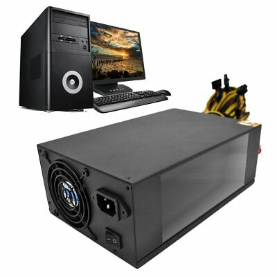 2200W Power Supply with Dual 8CM Low Noise Cooling Fans for Bitcoin Machine GV