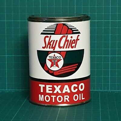 Vintage Replica Texaco Sky Chief Oil Tin Can Reproduction Tin Cans Display Props