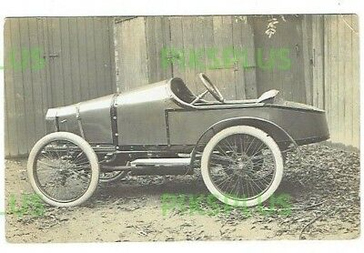 Old Postcard Light Brooklands Type Motor / Cycle Car Real Photo Vintage 1910-20