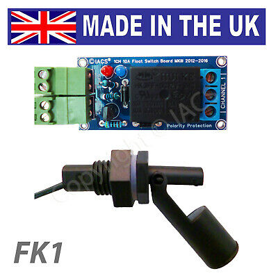 IACS Water Level Float Switch Board Sensor Kit 10A 1 Channel Liquid Relay FK1