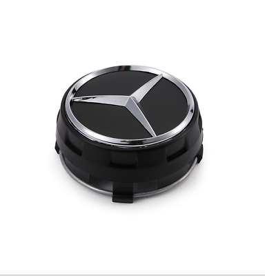 1Pcs 75mm Car Wheel Center Hub Cap Cover Logo Fits for Mercedes Benz Black