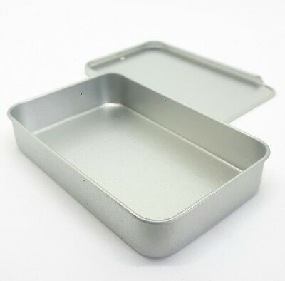 Small Tin. 40ml Container. Sliding Lid 80 x 50 x 15mm Metal Storage. UK SELLER