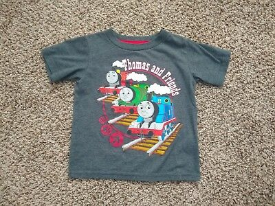Toddler Thomas The Train & Friends T-Shirt Size 2T Short Sleeve Grey