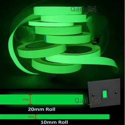 Glow In The Dark Tape Thick Thin Sticker Neon Light Switch Green Luminous Safety