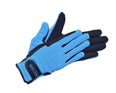 (X-Large, Black/Sky Blue) - Riders Trend Unisex Breathable Winter Horse