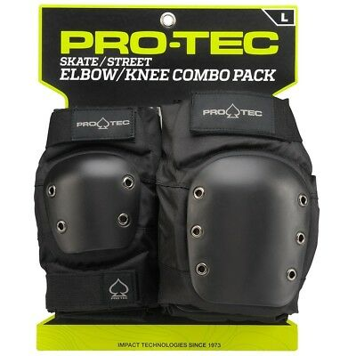(Small, Black) - Pro-Tec Street Knee and Elbow Pad Set. Shipping is Free