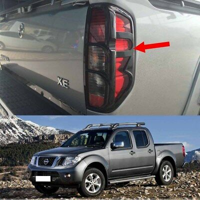 Tail Lamp Light Cover Trim Black Fits Nissan Navara D40 Pickup 2006 2014