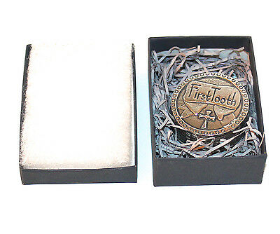 Lovely Pewter First Tooth Box w/ a Cross by Crosby & Taylor-Memorable Gift WOW