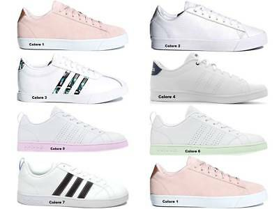 premium selection aa2c0 bb513 Adidas CF DAILY QT CL W DB1771 Rosa Scarpe Donna Sneakers Sportive