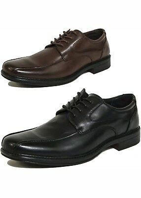 Alpine Swiss (2 PAIRS) Men's Oxford Dress Leather Lined Baseball Stitch Loafers