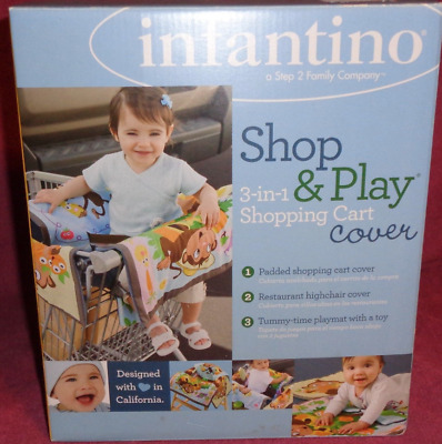Infantino Shop & Play 3 in 1 Shopping Cart/Restaurant Highchair Cover-New-Padded