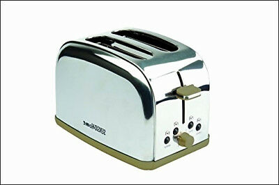 SENSIO Home Silhouettes Double Stainless Steel & Gold 1050W 2 Slice Toaster