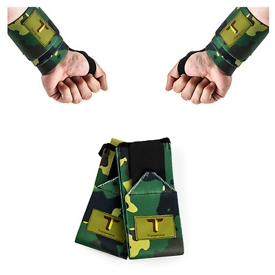 """Weight Lifting Crossfit Wrist Wraps Supports Gym Training Fist Straps Camo 23"""""""
