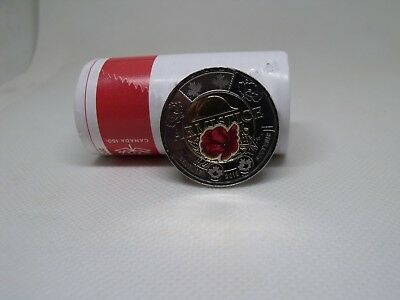 1918-2018 100th Anniversary Armistice  Colored PoppyToonie Direct from Mint Roll