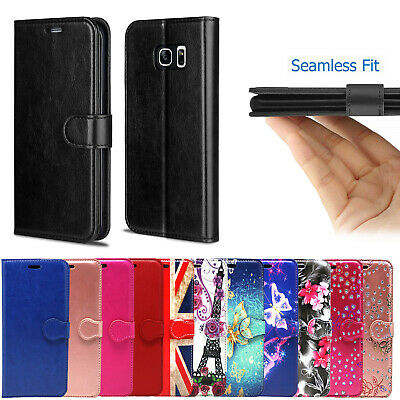 FOR SAMSUNG GALAXY S3/S3 MINI,S4,S5/S6/S7 GENUINE Leather wallet phone case