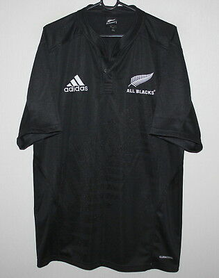 82655e9b159 All Blacks New Zealand national rugby union team shirt Adidas - Size L