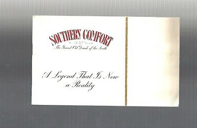 Collectible Vintage 1940s SOUTHERN COMFORT LEGEND Drink Cocktail Recipe Booklet