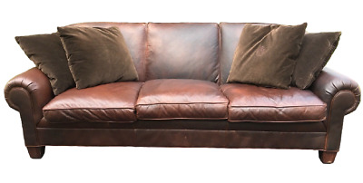 Wondrous Ralph Lauren Brown Leather 96 Camden Sofa By Henredon With Forskolin Free Trial Chair Design Images Forskolin Free Trialorg