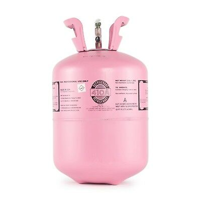 Brand New R410a Refrigerant in 25lb Disposable Tank, Made in USA