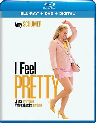 I Feel Pretty (Blu-ray + DVD + Digital Combo Pk, 2018) w/ SLIP COVER **FREE SHIP